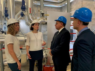 Calvó i Moles assisteixen a la inauguració de la nova xarxa de calor de Perpinyà