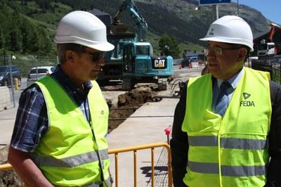 Construcció de la primera xarxa de calefacció urbana d'Andorra