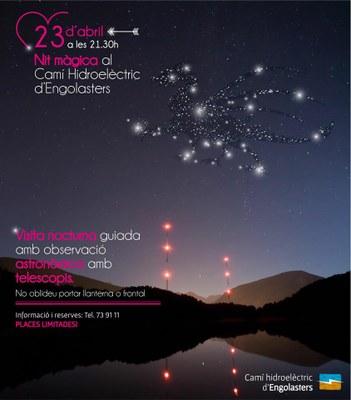 El Camí hidroelèctric d'Engolasters organitza una visita nocturna amb observació astronòmica