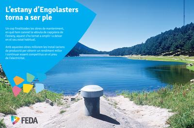 El llac d'Engolasters es torna a omplir
