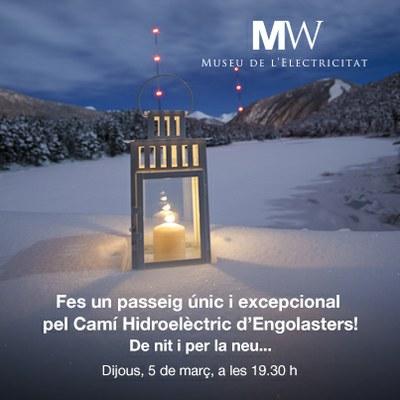 El MW Museu de l'Electricitat organitza una visita nocturna al Camí hidroelèctric amb lluna plena