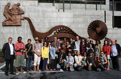 Els artistes del 4t Art Camp s'inspiren en l'MW Museu de l'Electricitat i el camí hidroelèctric d'Engolasters per crear les seves obres