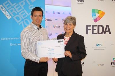 FEDA fa entrega dels 1.188 euros recaptats a l'espai solidari dins del Repte 70.000 d'UNICEF