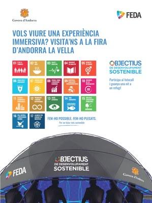FEDA i el Ministeri de Medi Ambient proposen viure una experiència immersiva a través dels ODS a la Fira d'Andorra la Vella