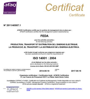 FEDA renova la certificació de la gestió mediambiental i el seguiment de les certificacions de seguretat laboral i de qualitat ambiental interior