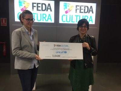 FEDACULTURA fa entrega dels 3.648 euros recaptats a la quarta col·laboració amb Unicef Andorra en la campanya #TancaUnicef