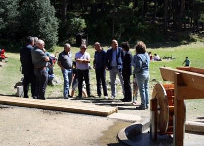 Inaugurada la primera fase d'embelliment dels entorns del llac d'Engolasters