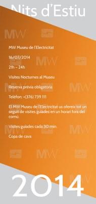 L'MW Museu de l'Electricitat s'afegeix a les Nits d'Estiu amb una visita guiada