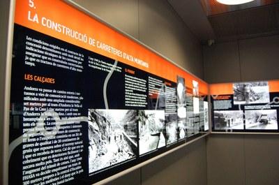 La construcció de les carreteres a Andorra, al Museu de l'Electricitat MW