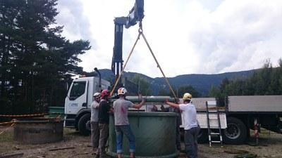 Treballs de manteniment de la infraestructura hidràulica de FEDA
